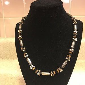 Heavy Sterling Silver Lindy Freed Necklace